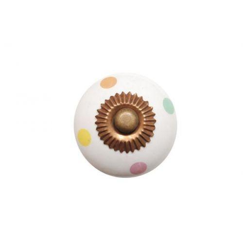 La finesse / Porcelánová úchytka Mix dots