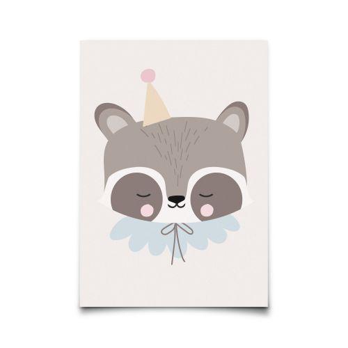 EEF lillemor / Pohľadnica Circus Raccoon