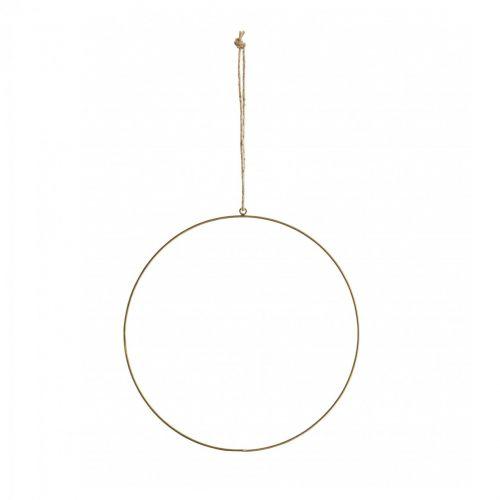MADAM STOLTZ / Závesný mosadzný dekoratívny kruh 30 cm