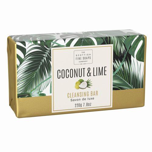 SCOTTISH FINE SOAPS / Luxusné tuhé mydlo Coconut & Lime - 220g