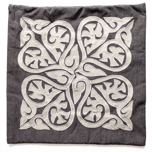Bloomingville / Obliečka na vankúš Traditional Grey Cushion