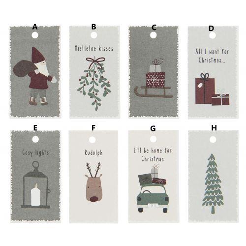 IB LAURSEN / Vianočné menovky na darčeky Christmas Cards