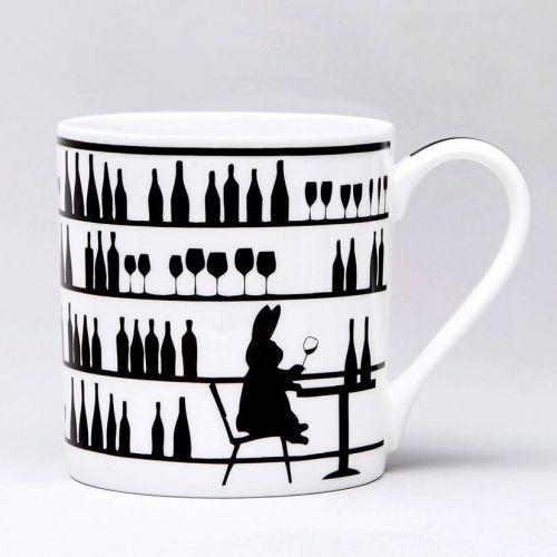 HAM / Porcelánový hrnček Wine Tasting Rabbit