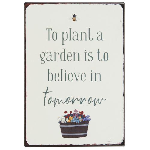 IB LAURSEN / Plechová ceduľa To plant a garden