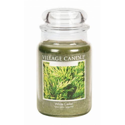 VILLAGE CANDLE / Svíčka ve skle White Cedar - velká