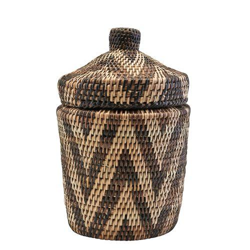 House Doctor / Ručne pletený ratanový košík s vekom Boylo Light