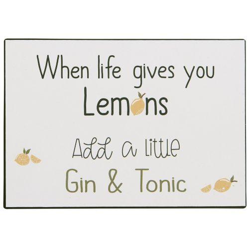IB LAURSEN / Plechová ceduľa Add Gin & Tonic