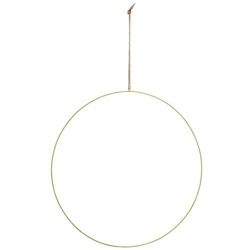 MADAM STOLTZ / Závesný kruh na dekorovanie Antique brass 60 cm