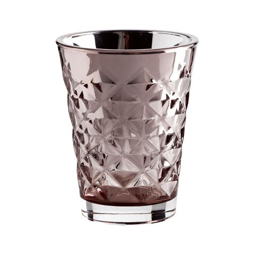 Tine K Home / Svícen Facet glass Dusty rose 10 cm
