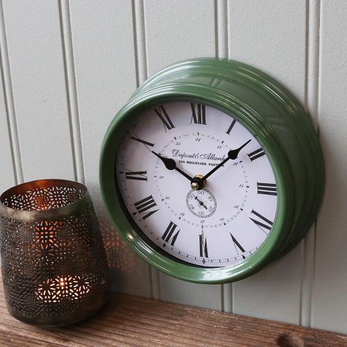 Chic Antique / Nástenné hodiny Dark Green