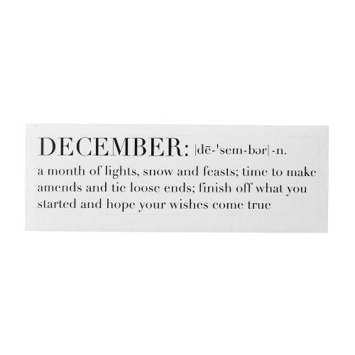 Bloomingville / Nálepka na sviečku December