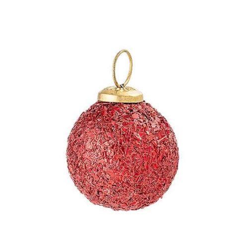 Bloomingville / Vianočná ozdoba Vintage Red Dust Ø 5 cm