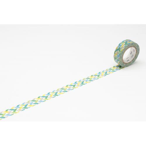 MT / Designová samolepicí páska Slash green
