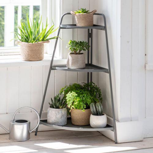 Garden Trading / Rohový stojan na kvetiny Charcoal