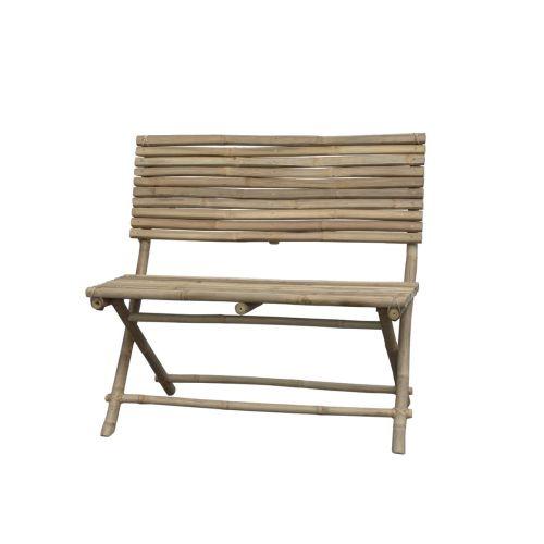 Chic Antique / Bambusová lavica s operadlom Lyon