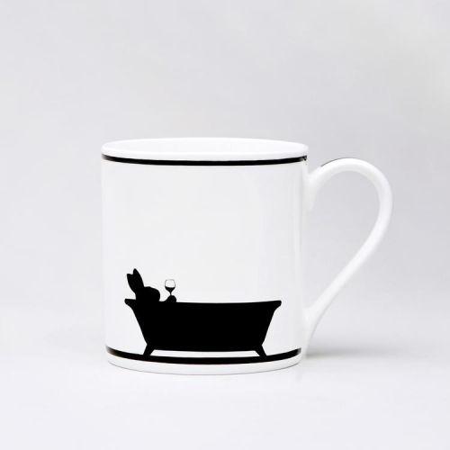 HAM / Porcelánový hrnček Bathtime Rabbit