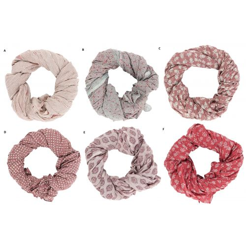 IB LAURSEN / Bavlnená šatka Rose Combinations