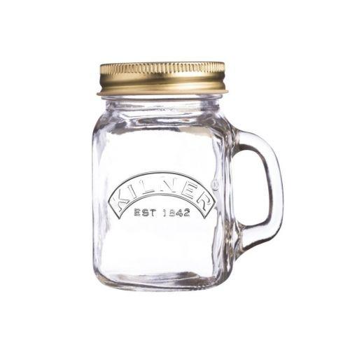 KILNER / Mini pohár s uchom a viečkom 140 ml