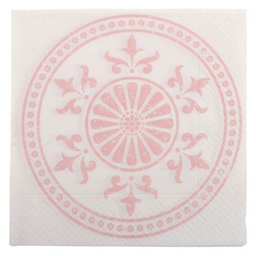 IB LAURSEN / Papierové obrúsky Circle pink