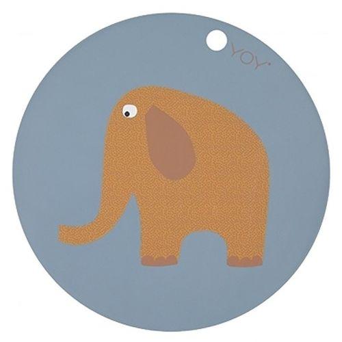OYOY / Detská silikónová podložka Elephant
