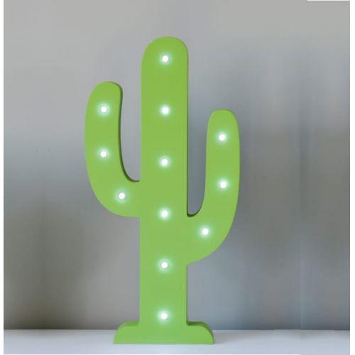 Smiling Faces / Svietiaci zelený LED kaktus