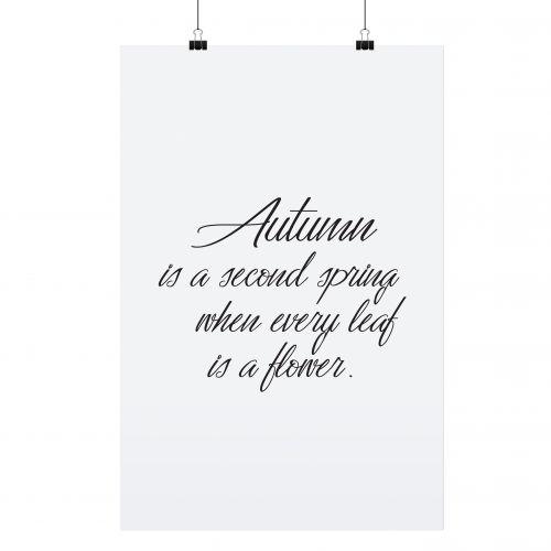 TAFELGUT / Minimalistický plagát Autumn 30x42 cm