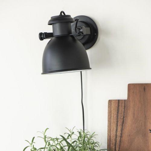 IB LAURSEN / Nástenná lampa Black Cord