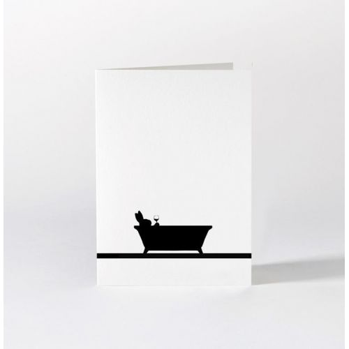 HAM / Černo-biele prianie Bathtime Rabbit