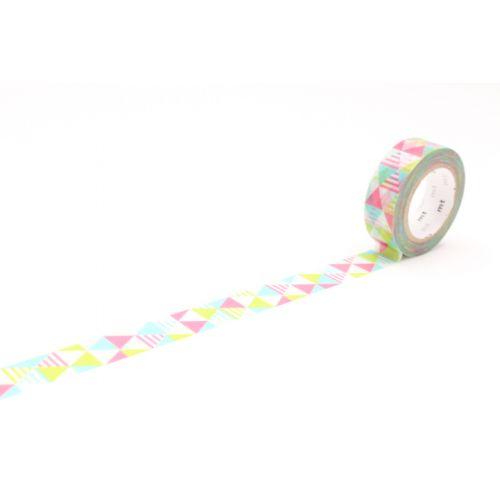 mt / Dizajnová samolepiaca páska Shimasankaku pink