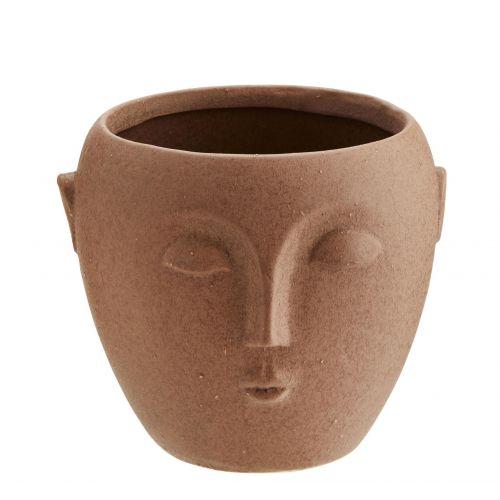 MADAM STOLTZ / Obal na kvetináč Terracotta Face 10,5 cm