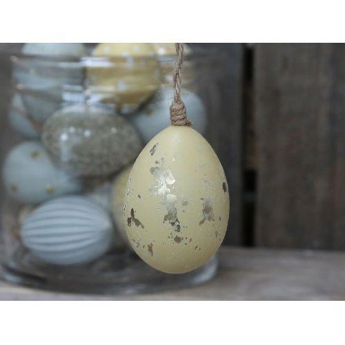 Chic Antique / Závesné plastové vajce Melon Gold