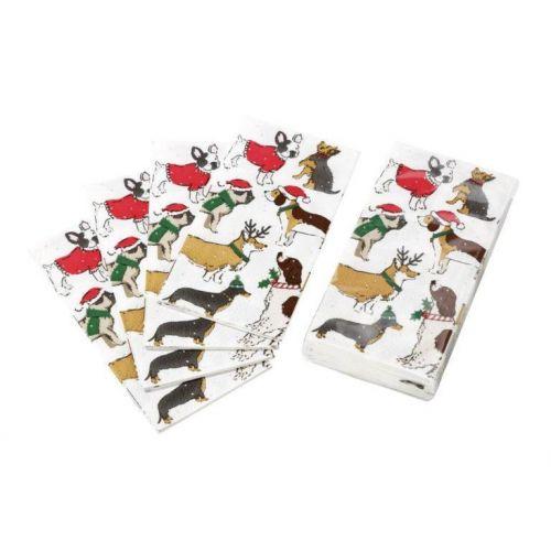 Talking Tables / Papierové vreckovky Christmas Hound 10 ks