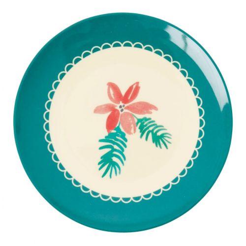 rice / Melamínový tanierik Poinsettia 16 cm