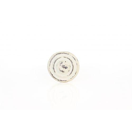 La finesse / Kovová úchytka Antik white 3,5cm