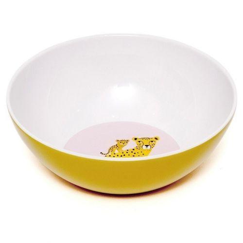 PETIT MONKEY / Detská melamínová miska Leopard Yellow