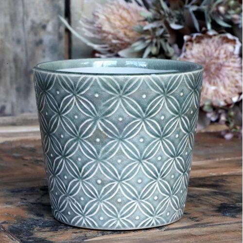 Chic Antique / Keramický obal na kvetináč Antique Verte Green 13 cm