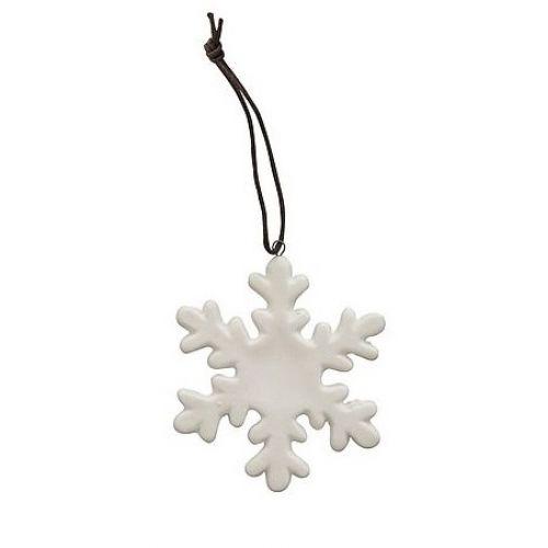 Krasilnikoff / Porcelánová vianočná ozdoba White Snowflake