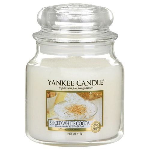 Yankee Candle / Svíčka Yankee Candle 411gr - Spiced White Cocoa