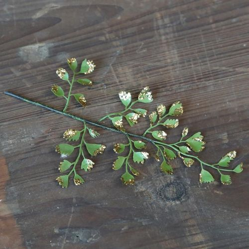 Chic Antique / Dekoratívna vetvička Leaf Glitter