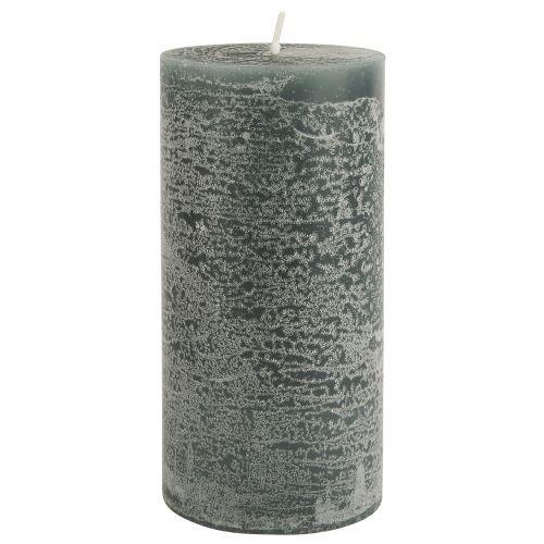 IB LAURSEN / Okrúhla sviečka Rustic Moss Green 14 cm
