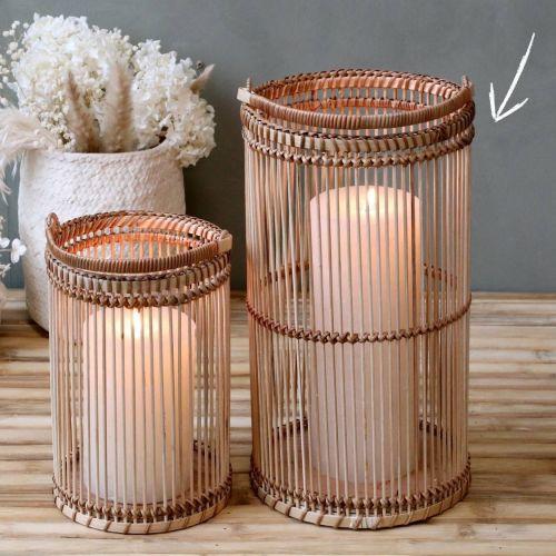 Chic Antique / Bambusový lampáš Round - väčší