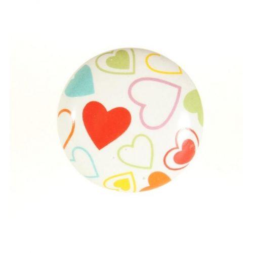 La finesse / Porcelánová úchytka Hearts