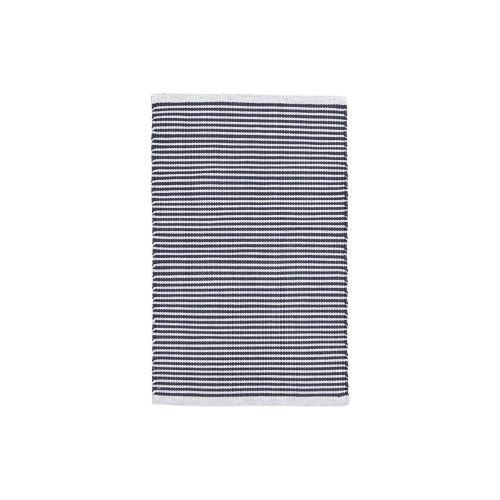 House Doctor / Vonkajší koberček Black Stripes 60x90cm