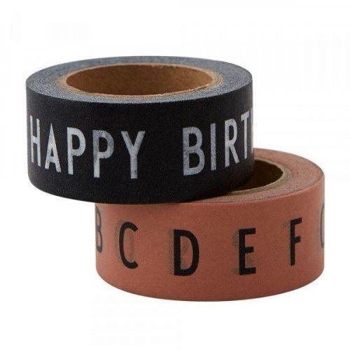 DESIGN LETTERS / Dizajnové lepiace pásky HAPPY BIRTHDAY - 2ks