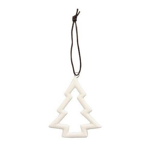 Krasilnikoff / Porcelánová vianočná ozdoba White Tree