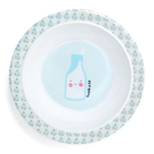 EEF lillemor / Detská melamínová miska Petit déjeuner Blue