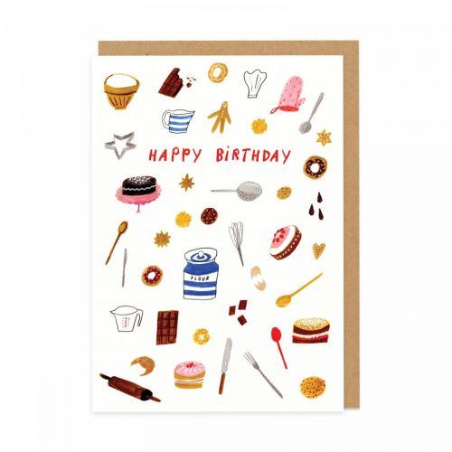 Ohh Deer / Narozeninové přání s obálkou Baking