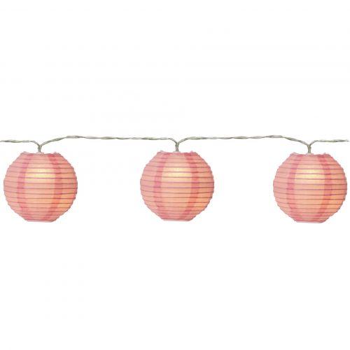 STAR TRADING / Svetelná lampiónová reťaz Pink