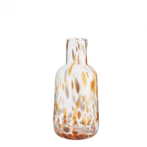 MADAM STOLTZ / Sklenená váza Dotted Orange/Grey