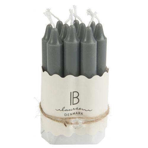 IB LAURSEN / Úzka sviečka Dark grey 10 cm - set 10 ks
